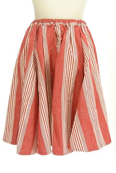 BEAMS Women's(ビームス ウーマン)の古着「ストライプ柄膝丈フレアスカート(スカート)」大画像2へ