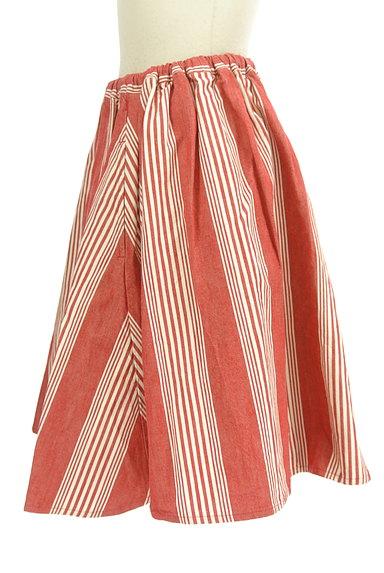 BEAMS Women's(ビームス ウーマン)の古着「ストライプ柄膝丈フレアスカート(スカート)」大画像3へ