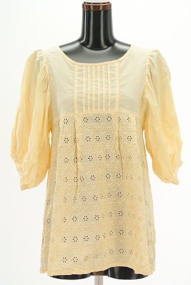 Par Avion(パラビオン)の古着「ボリューム七分袖刺繍カットソー(カットソー・プルオーバー)」大画像1へ