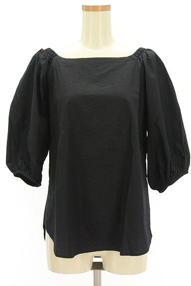 DOUBLE STANDARD CLOTHING(ダブルスタンダードクロージング)の古着「ボリューム袖バックリボンカットソー(カットソー・プルオーバー)」大画像1へ
