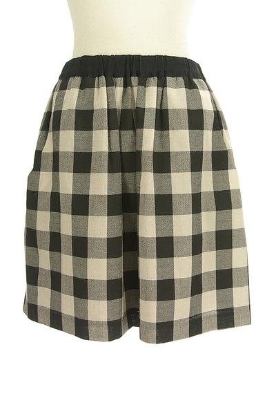 Bon mercerie(ボンメルスリー)の古着「チェック柄膝上丈フレアスカート(ミニスカート)」大画像1へ