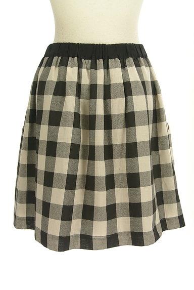 Bon mercerie(ボンメルスリー)の古着「チェック柄膝上丈フレアスカート(ミニスカート)」大画像2へ