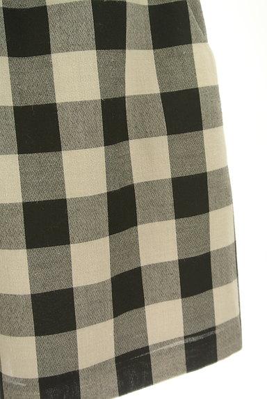Bon mercerie(ボンメルスリー)の古着「チェック柄膝上丈フレアスカート(ミニスカート)」大画像5へ