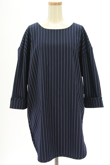 OKIRAKU(オキラク)の古着「ストライプ柄ロングカットソー(カットソー・プルオーバー)」大画像1へ