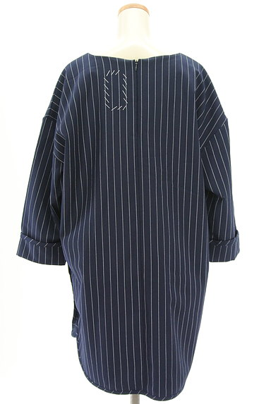 OKIRAKU(オキラク)の古着「ストライプ柄ロングカットソー(カットソー・プルオーバー)」大画像2へ