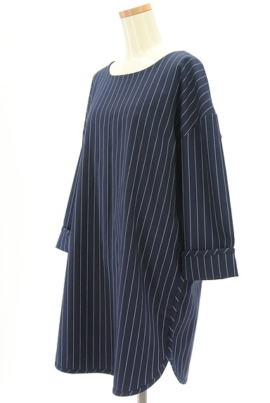 OKIRAKU(オキラク)の古着「ストライプ柄ロングカットソー(カットソー・プルオーバー)」大画像3へ