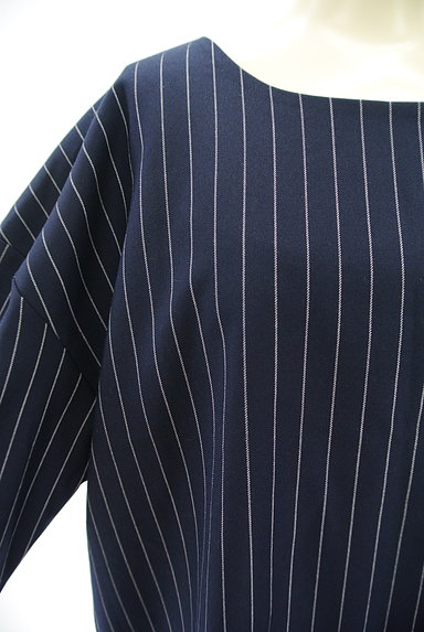 OKIRAKU(オキラク)の古着「ストライプ柄ロングカットソー(カットソー・プルオーバー)」大画像4へ