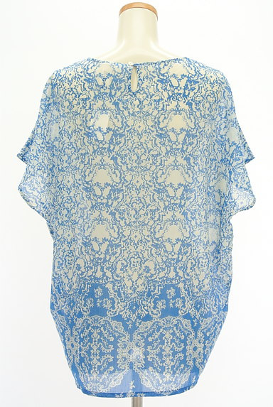 Ebonyivory(エボニーアイボリー)の古着「総柄シアーカットソー(カットソー・プルオーバー)」大画像2へ