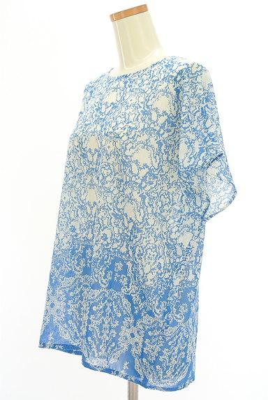 Ebonyivory(エボニーアイボリー)の古着「総柄シアーカットソー(カットソー・プルオーバー)」大画像3へ