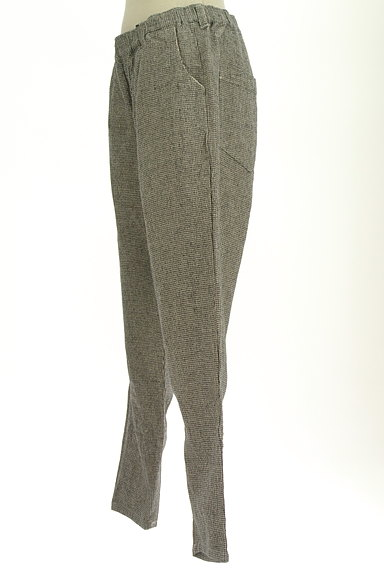 SM2(サマンサモスモス)の古着「起毛千鳥格子柄テーパードパンツ(パンツ)」大画像3へ