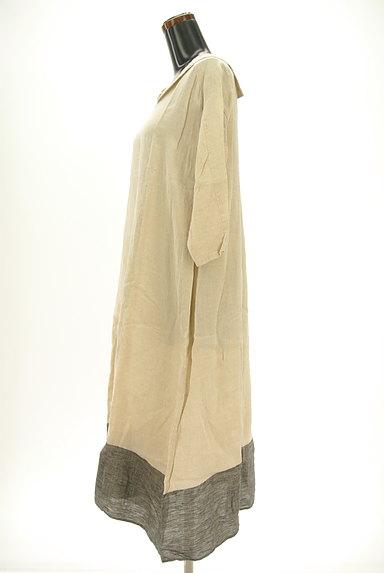 SM2(サマンサモスモス)の古着「セーラー襟ロングリネンワンピ(ワンピース・チュニック)」大画像3へ