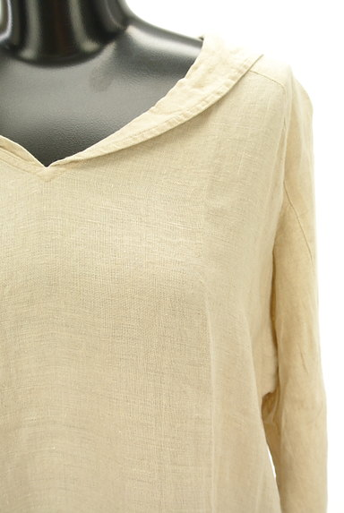 SM2(サマンサモスモス)の古着「セーラー襟ロングリネンワンピ(ワンピース・チュニック)」大画像4へ