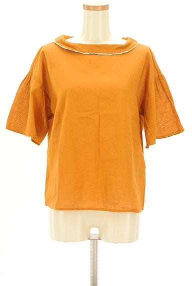 SM2(サマンサモスモス)の古着「フリルロールカラーカットソー(ブラウス)」大画像1へ