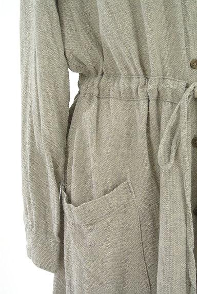 SM2(サマンサモスモス)の古着「ウエストドロストコットンリネンワンピ(ワンピース・チュニック)」大画像5へ
