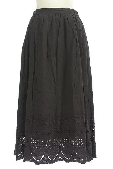 studio CLIP(スタディオクリップ)の古着「裾刺繍レースロングスカート(ロングスカート・マキシスカート)」大画像1へ