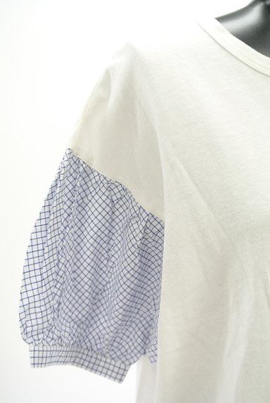 studio CLIP(スタディオクリップ)の古着「チェック柄袖切替カットソー(カットソー・プルオーバー)」大画像4へ