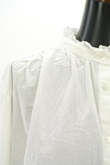 studio CLIP(スタディオクリップ)の古着「フリルバンドカラーシャツ(ブラウス)」大画像4へ