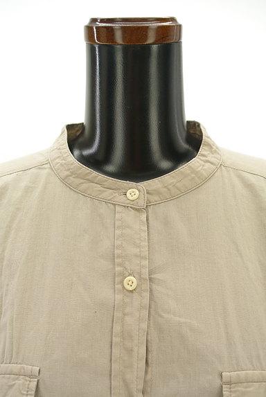 studio CLIP(スタディオクリップ)の古着「バンドカラー七分袖シャツワンピ(ワンピース・チュニック)」大画像5へ