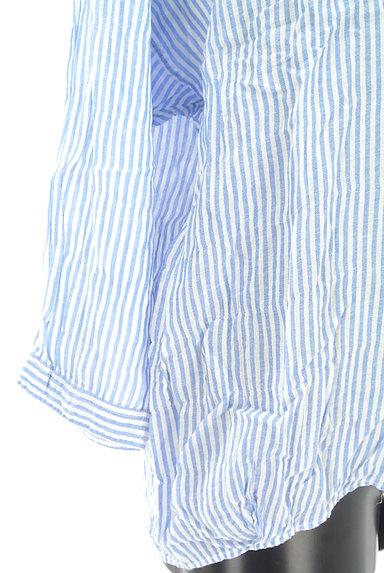 niko and...(ニコ アンド)の古着「ストライプ柄シアーシャツ(カジュアルシャツ)」大画像5へ