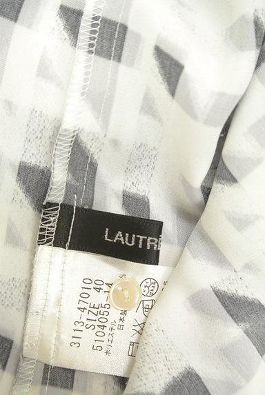 LAUTREAMONT(ロートレアモン)の古着「チェック×千鳥格子柄キーネックカットソー(ブラウス)」大画像6へ