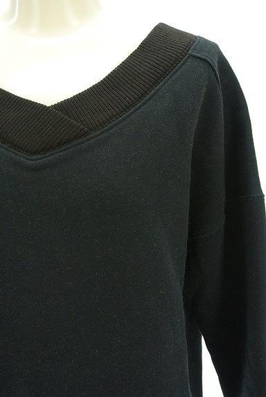 BARNYARDSTORM(バンヤードストーム)の古着「裏起毛Vネックスウェットトップス(スウェット・パーカー)」大画像4へ