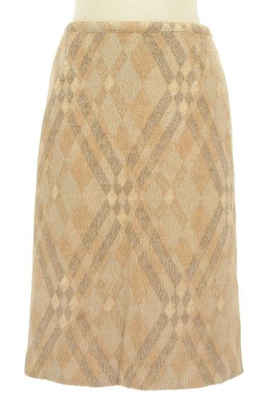 ITALIYA(伊太利屋)の古着「チェックウールニットスカート(スカート)」大画像1へ