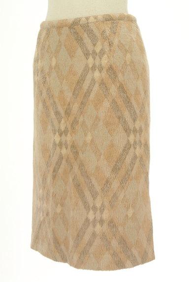 ITALIYA(伊太利屋)の古着「チェックウールニットスカート(スカート)」大画像3へ