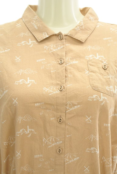 SM2(サマンサモスモス)の古着「こすれプリントロングシャツワンピ(ワンピース・チュニック)」大画像4へ