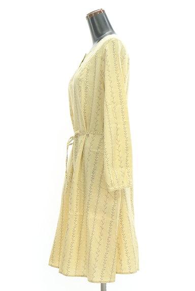 SM2(サマンサモスモス)の古着「木の枝ストライプシャツワンピース(ワンピース・チュニック)」大画像3へ