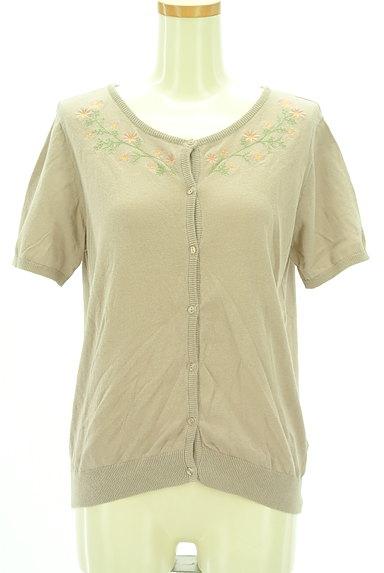 SM2(サマンサモスモス)の古着「小花刺繍ライトニットカーディガン(カーディガン・ボレロ)」大画像1へ