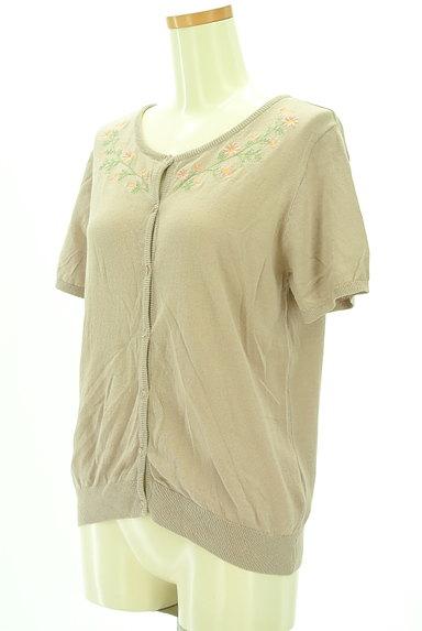 SM2(サマンサモスモス)の古着「小花刺繍ライトニットカーディガン(カーディガン・ボレロ)」大画像3へ