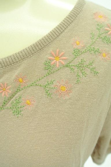 SM2(サマンサモスモス)の古着「小花刺繍ライトニットカーディガン(カーディガン・ボレロ)」大画像4へ