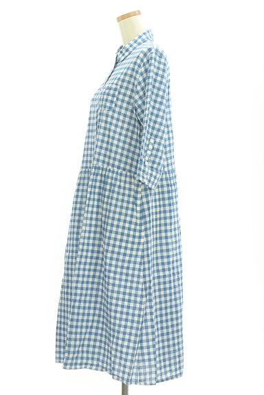 SM2(サマンサモスモス)の古着「カラーギンガムシャツワンピース(ワンピース・チュニック)」大画像3へ