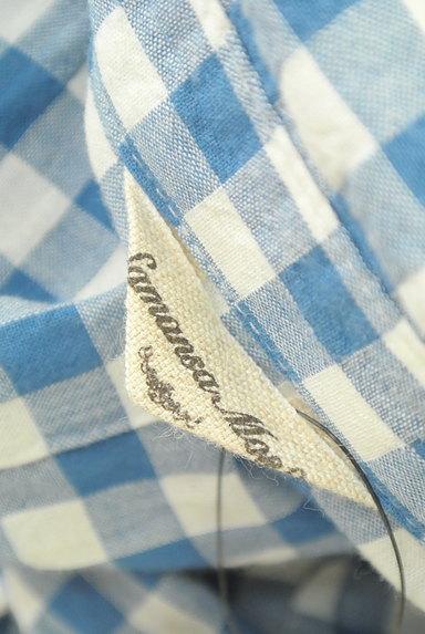 SM2(サマンサモスモス)の古着「カラーギンガムシャツワンピース(ワンピース・チュニック)」大画像6へ