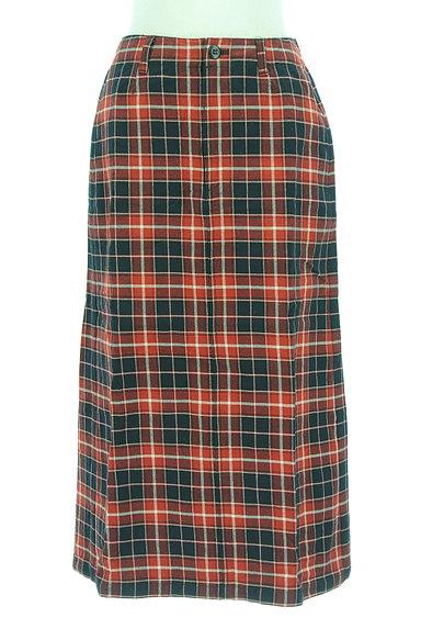 studio CLIP(スタディオクリップ)の古着「バックスリットチェックロングスカート(ロングスカート・マキシスカート)」大画像1へ