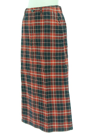 studio CLIP(スタディオクリップ)の古着「バックスリットチェックロングスカート(ロングスカート・マキシスカート)」大画像3へ