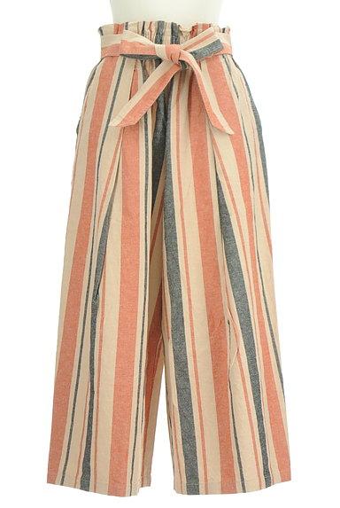 BEAMS Women's(ビームス ウーマン)の古着「カラーストライプワイドパンツ(パンツ)」大画像1へ