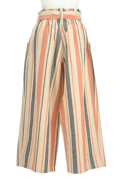 BEAMS Women's(ビームス ウーマン)の古着「カラーストライプワイドパンツ(パンツ)」大画像2へ
