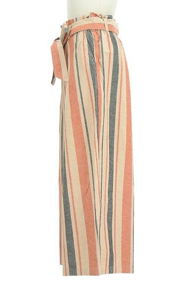 BEAMS Women's(ビームス ウーマン)の古着「カラーストライプワイドパンツ(パンツ)」大画像3へ