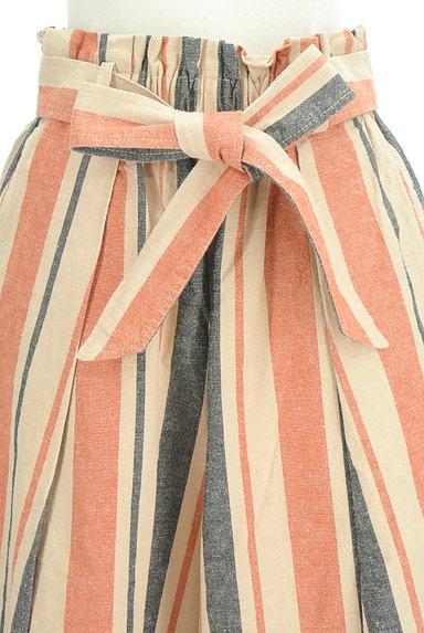 BEAMS Women's(ビームス ウーマン)の古着「カラーストライプワイドパンツ(パンツ)」大画像4へ