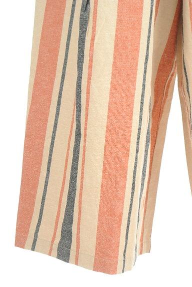 BEAMS Women's(ビームス ウーマン)の古着「カラーストライプワイドパンツ(パンツ)」大画像5へ