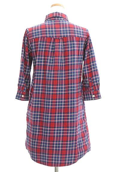 NATURAL BEAUTY BASIC(ナチュラルビューティベーシック)の古着「7分袖チェックシャツチュニック(カジュアルシャツ)」大画像2へ