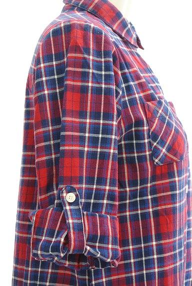 NATURAL BEAUTY BASIC(ナチュラルビューティベーシック)の古着「7分袖チェックシャツチュニック(カジュアルシャツ)」大画像5へ