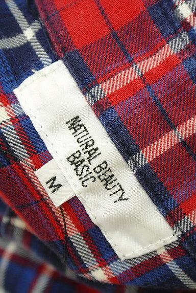 NATURAL BEAUTY BASIC(ナチュラルビューティベーシック)の古着「7分袖チェックシャツチュニック(カジュアルシャツ)」大画像6へ