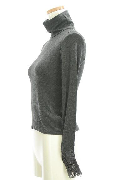 LOUNIE(ルーニィ)の古着「袖レースタートルカットソー(カットソー・プルオーバー)」大画像3へ