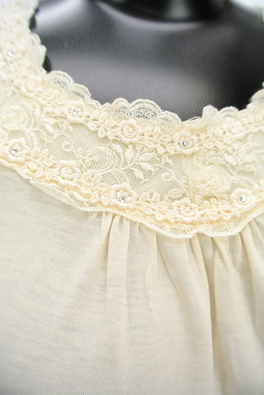 axes femme(アクシーズファム)の古着「刺繍レースカットソー(カットソー・プルオーバー)」大画像4へ
