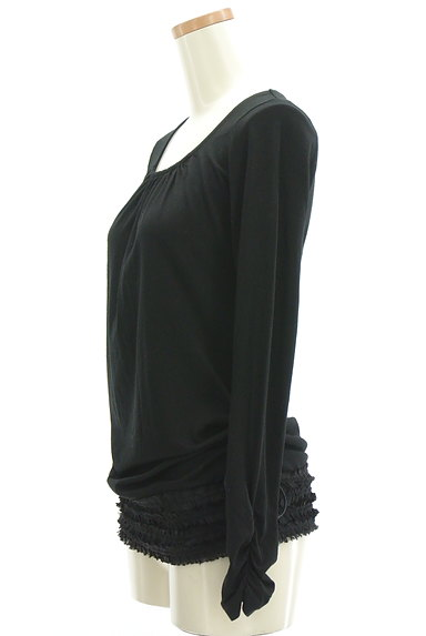 Stola.(ストラ)の古着「裾シフォンフリルカットソー(カットソー・プルオーバー)」大画像3へ