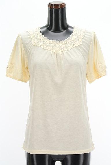 axes femme(アクシーズファム)の古着「装飾刺繍レースカットソー(カットソー・プルオーバー)」大画像1へ