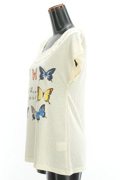 axes femme(アクシーズファム)の古着「蝶々プリントレースカットソー(カットソー・プルオーバー)」大画像3へ