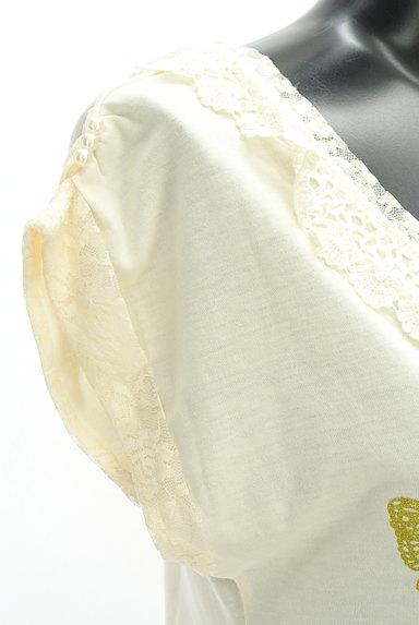 axes femme(アクシーズファム)の古着「蝶々プリントレースカットソー(カットソー・プルオーバー)」大画像4へ